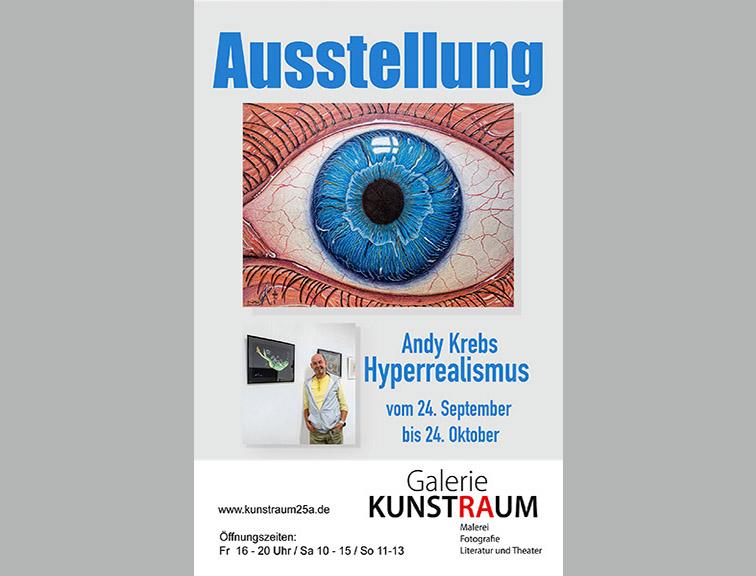Aussstellung Andy Krebs - in der Galerie Kunstraum 25a in Rastatt
